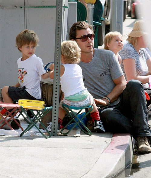 Kingston Rossdale Gets The Stink Eye From Preschool Playdate