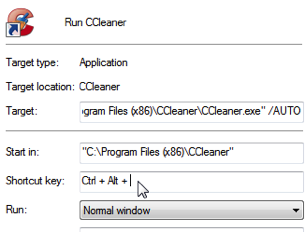 Run CCleaner Instantly and Silently with a Keyboard Shortcut