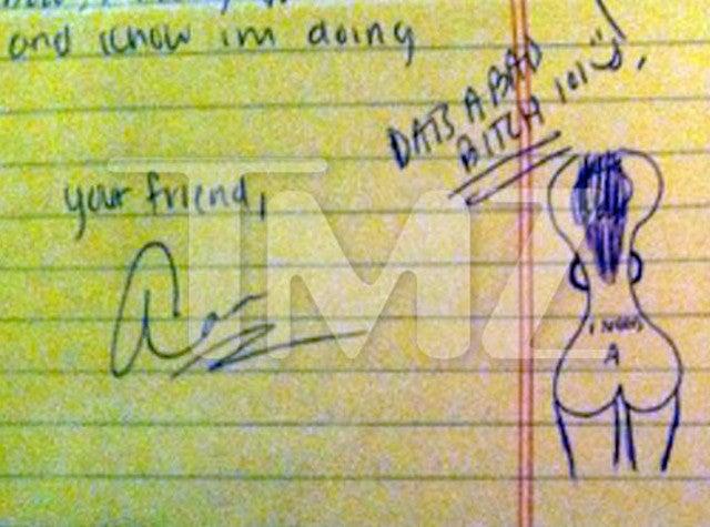 Aaron Hernandez, Just Doodling Lady Butts