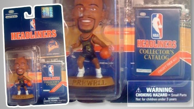 Latrell Sprewell Figurine Bought At Antique Store Packaged With Unintentionally Funny Warning Label