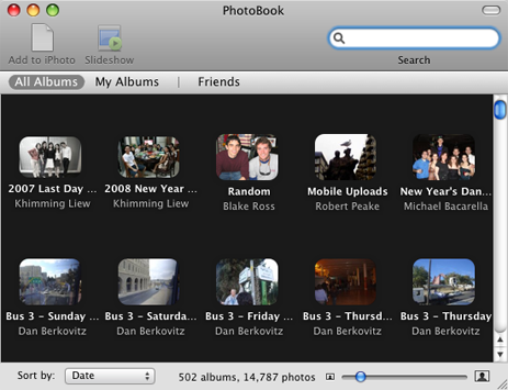 Browse Facebook Photos iPhoto-Like with PhotoBook