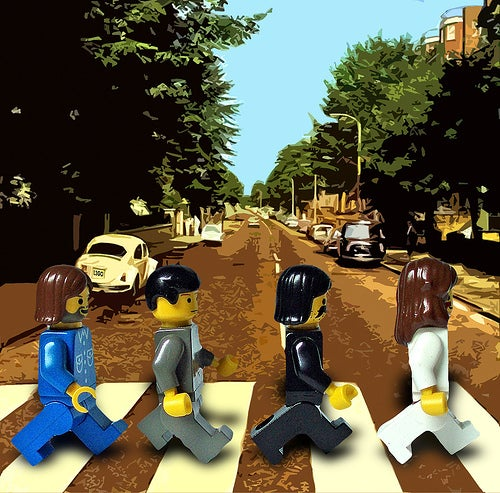 Beatles Album Covers, Starring Lego