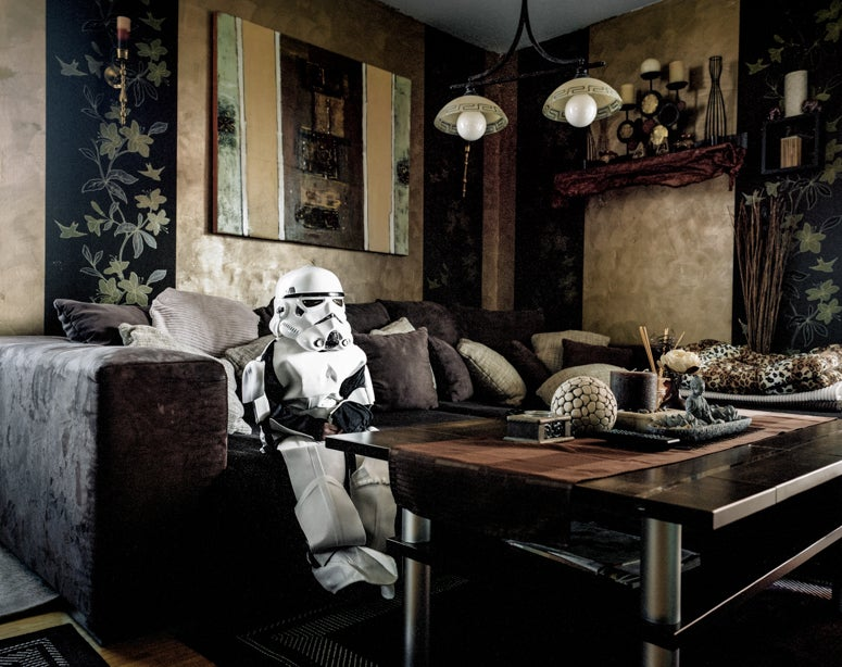 Cosplayers Relaxing At Home