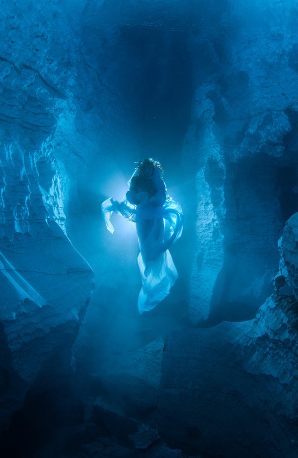 Ethereal photos of the spirit that haunts Russia's underwater crystal cave