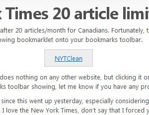 How to Work Around the New York Times' 20-Article-per-Month Paywall