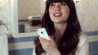 Ten Adorable Fun Super GIFs of Zooey Deschanel Talking to Siri