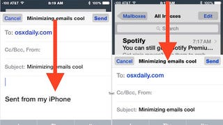 Minimize the Compose Window in Apple Mail for iOS by a Gesture