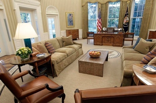 Check Out the Fancy Oval Office Makeover!