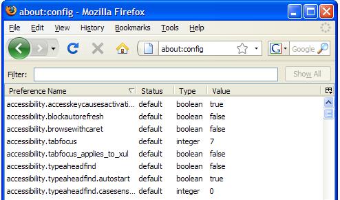 Useful Firefox 3 Configuration Tweaks