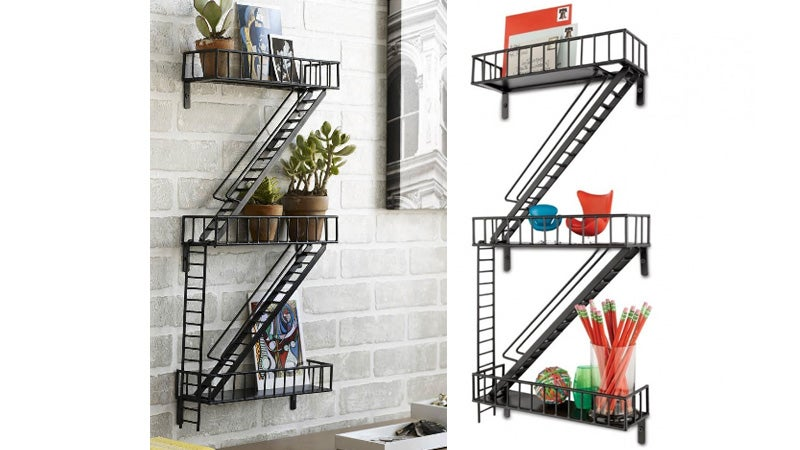 Adorable Fire-Escape Shelving: For When Your Knick-Knacks Need a Smoke Break