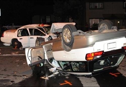 Cops Crew Crashes In Major Portland Accident