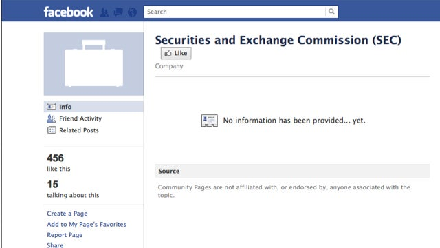 The SEC's Facebook Page Sucks
