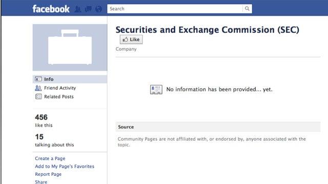 The SEC's Facebook Page Sucks