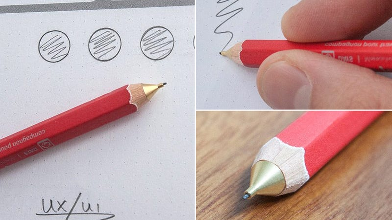 A Mechanical Wooden Pencil That Will Never Go Dull