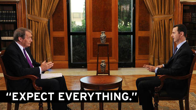 """This Is a Syrian Matter"": Here's Charlie Rose's Assad Interview"