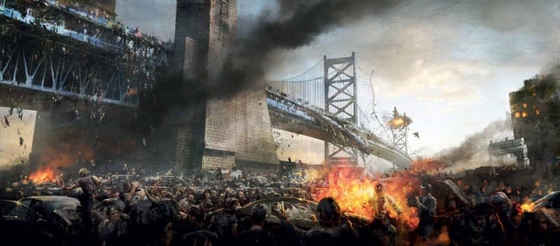 Astonishing World War Z concept art shows a zombie mosh pit