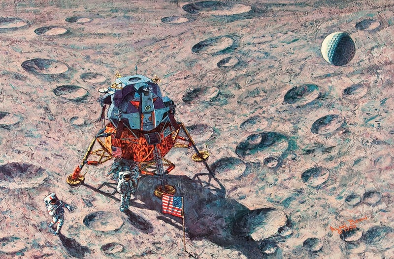 The Fourth Man To Walk On the Moon Also Paints Beautiful Space Art