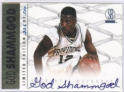 Behold The Majesty Of The God Shammgod Basketball Card