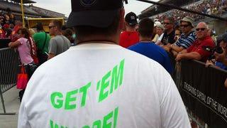 "NASCAR fan's shirt charmingly cheers Danica ""Whore"" Patrick"