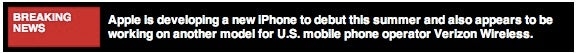 Rumor: Two New iPhones, One for Verizon