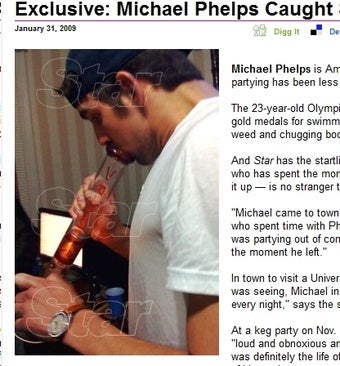 Michael Phelps' Nemesis Lawman Jeered by Dope-fiend Sympathizers