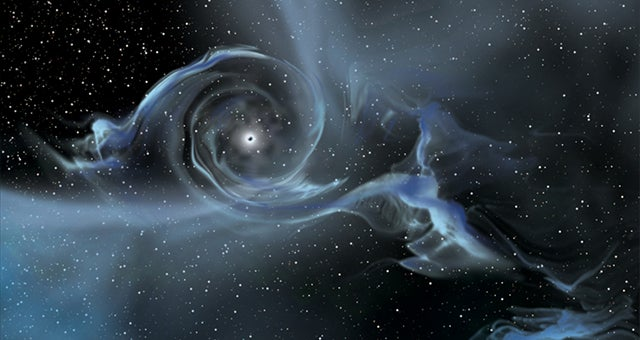 Astronomers discover massive black hole careening away from its home galaxy