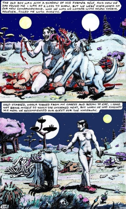 Genital-filled Princess of Mars comic shows off the full-frontal natives of Barsoom (NSFW)
