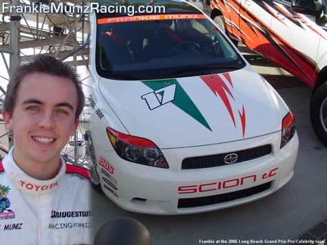 Frankie Muniz Graduates to Champ Car Atlantic, Will Never Graduate From College