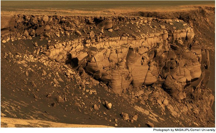 The Texture of Martian Geography