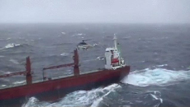 Watch This Crazy Icelandic Coast Guard Helicopter Rescue!