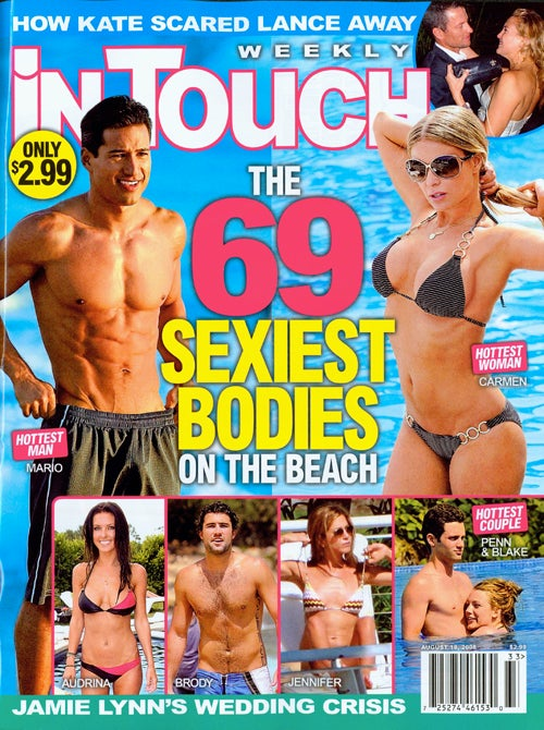 This Week in Tabloids: Aniston Wants A Baby, Applegate Is Ailing, & Cyrus Is A Not-So-Secret Sexpot