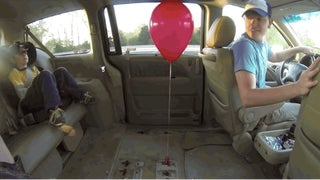 Prepare to Have Your Mind Blown by a Balloon and a Minivan