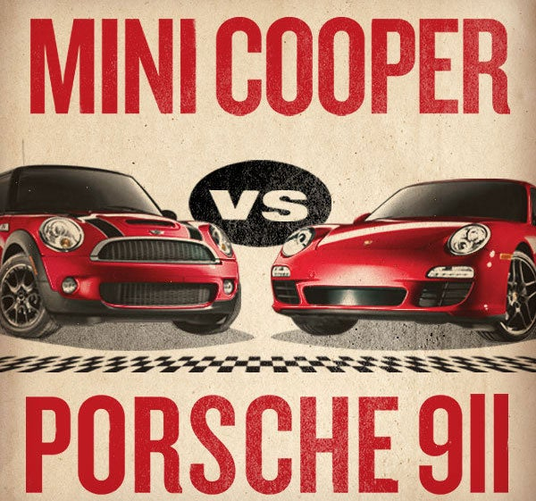 Mini Challenges Porsche To A Race, Porsche Considering It