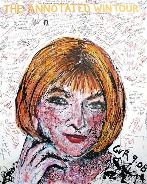 Painting Of Anna Wintour Doubles As Anna Wintour Slam Book