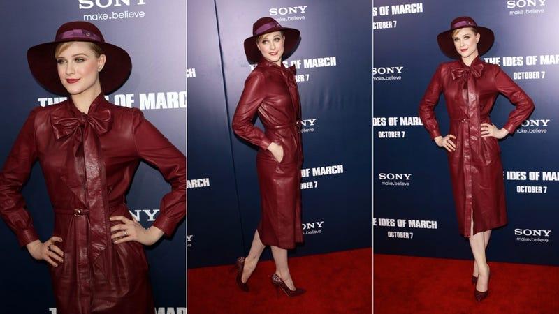 Evan Rachel Wood Mixes Business With Leather