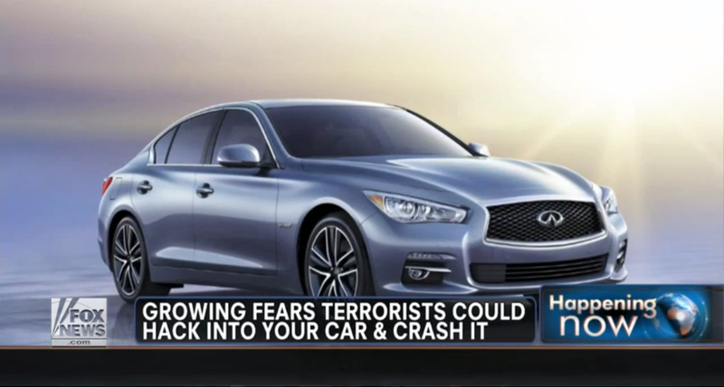 Fox News Says Car Hacking Will Lead To 'Al Qaeda Behind The Wheel'
