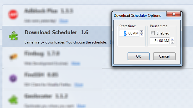 Schedule Firefox Downloads For A Later Time
