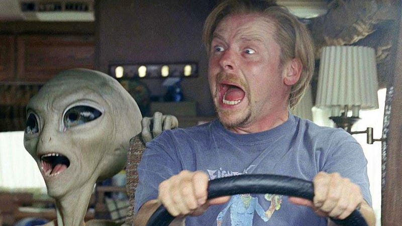 Americans are an alien species, in Simon Pegg and Nick Frost's Paul