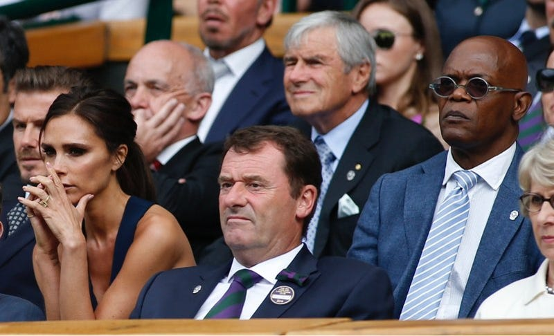Samuel L. Jackson and Posh Spice Shared an Awkward Moment at Wimbledon