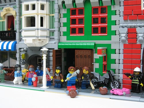The Zombie Apocalypse — in Legos