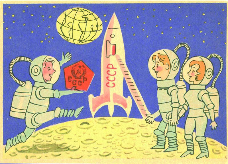 Happy Soviets Dance on the Moon, 1961