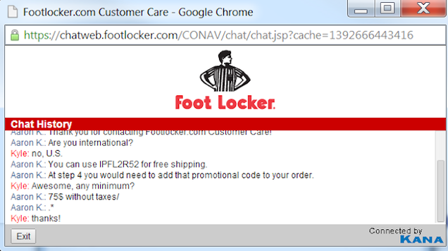 Foot locker coupon codes 2018