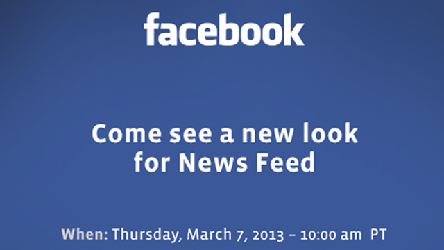 Facebook's Getting a News Feed Overhaul Next Week