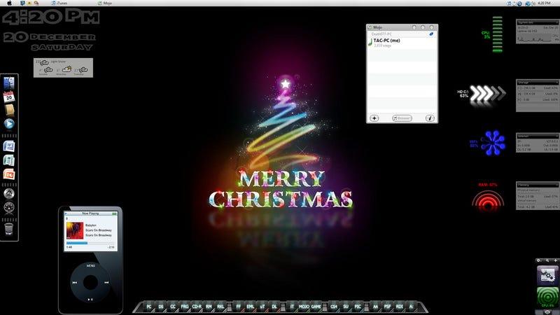 Mac-Like Vista Christmas Desktop