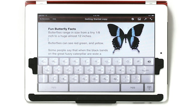TouchFire Upgrades the iPad's Touchscreen For Touch Typists