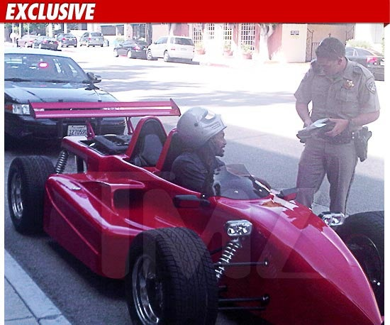 Ron Artest Pulled Over In An Indy Car