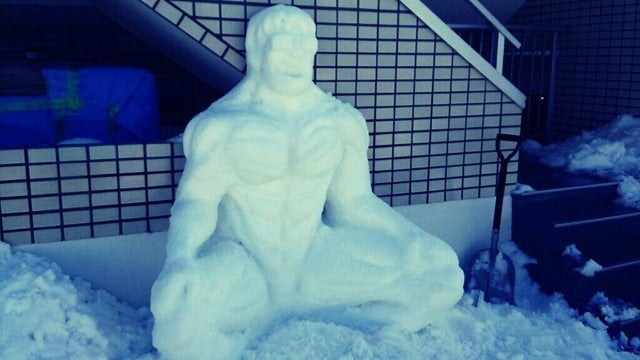 Snow Pikachu Evolves into a Macho Hunk