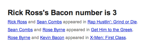 Google's Star-Searching Bacon Number Tool Makes Your Brain One Degree Less Necessary