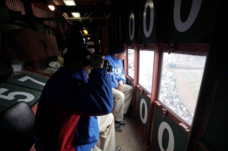 Rare Photos Of Wrigley's Scoreboard Mark Its 100th Anniversary