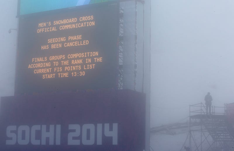 Sochi Organizers Attempt To Clear Fog With Giant Fans